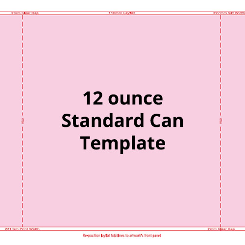 12oz Standard Can Template