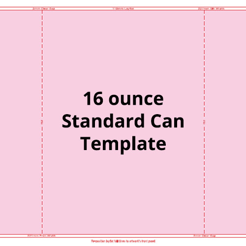 16 Ounce Standard Can Template
