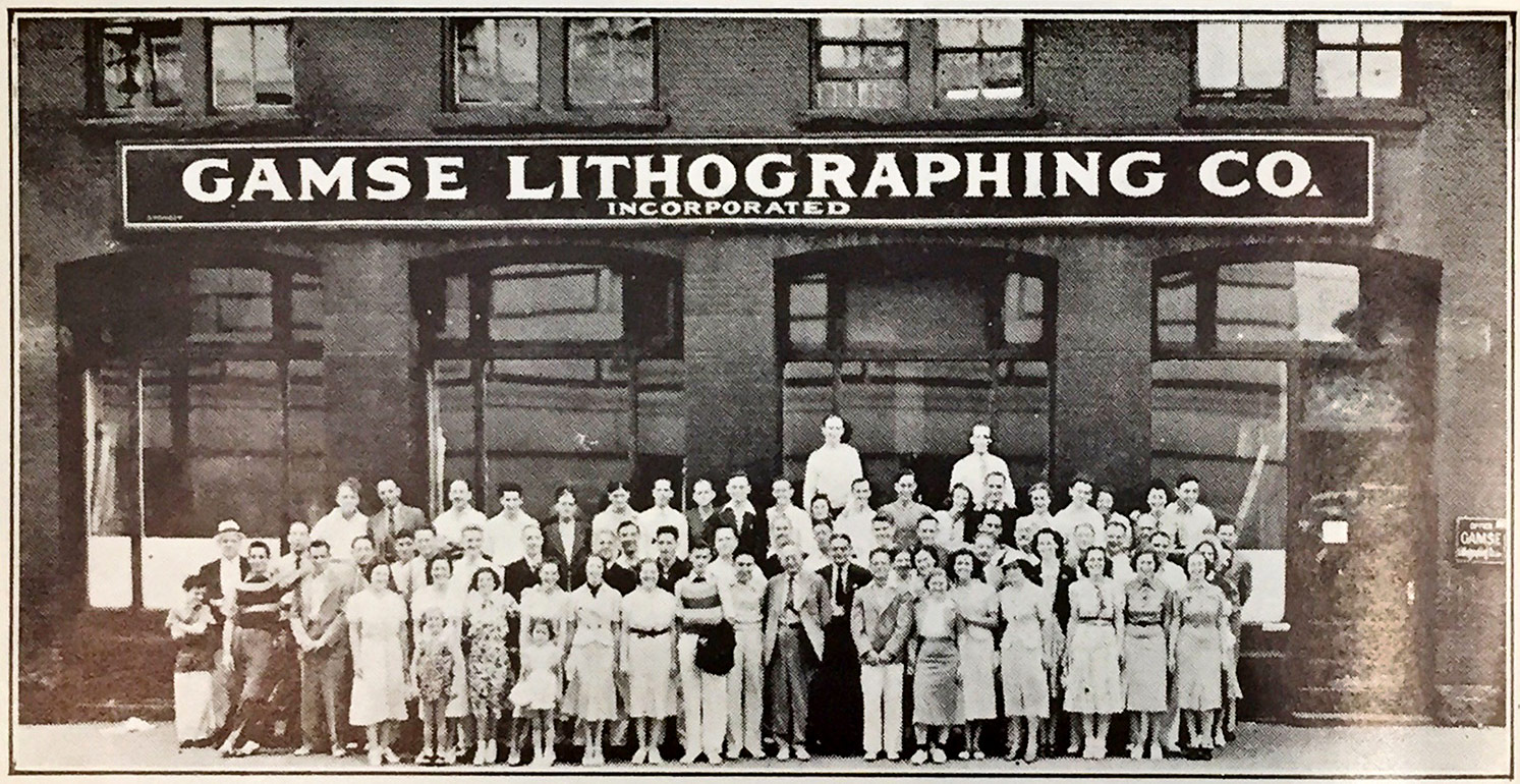 Old Image of Gamse Lithographing